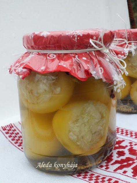 Aleda konyhája: Ecetes almapaprika káposztával töltve
