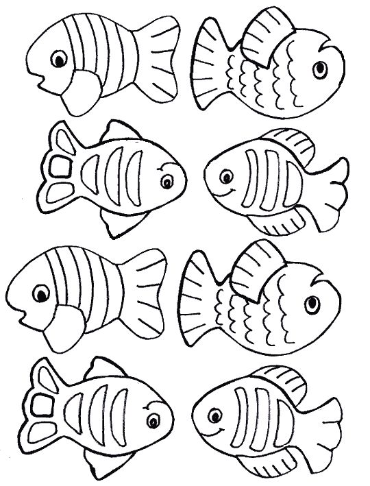 fish coloring page - Google Search