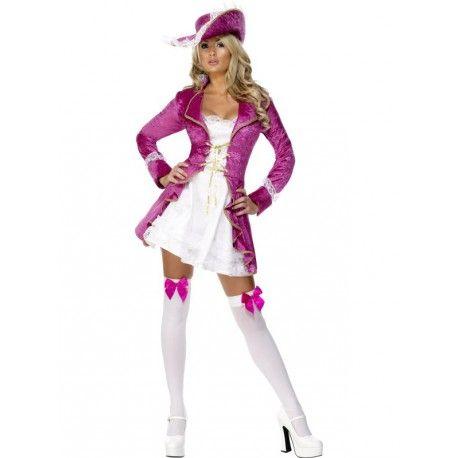 Disfraz de Bucanera Sexy en Rosa para mujer. Si quieres convertirte en pirata sin perder ese toque sexy y provocativo, este disfraz en rosa es perfecto para ti! Atrévete a surcar los siete mares y destaca en tu fiesta de disfraces transformada en la corsaria más sexy. http://www.disfracessimon.com/disfraces-piratas-adultos/4083-disfraz-pirata-rosa-sombrero.html