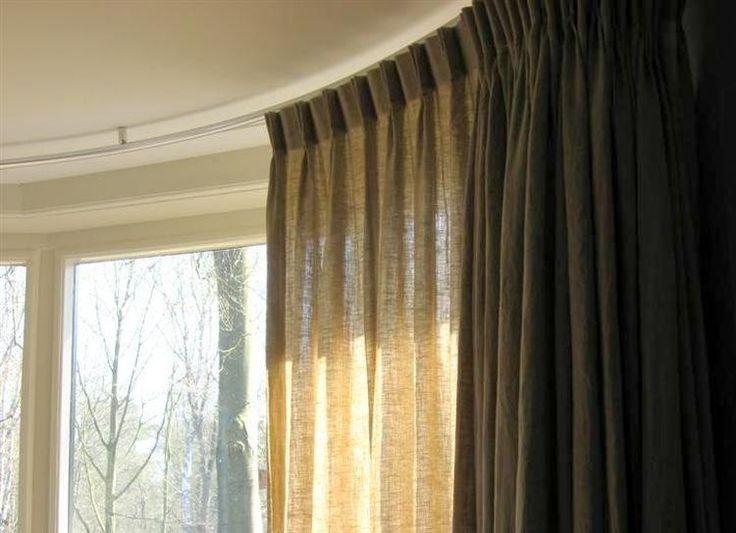 Afbeeldingsresultaat voor bruine linnen gordijnen