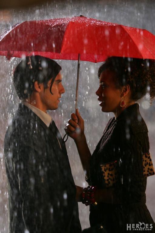 "Milo Ventimiglia as Peter Petrelli & Tawny Cypress as Simone Deveaux - Heroes S1E03 ""The Red Umbrella"""