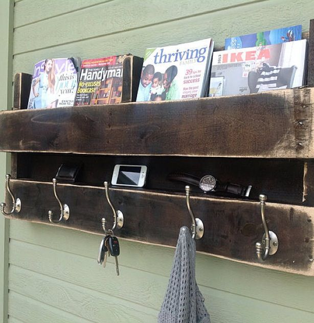 DIY pallet shelf...should totally do this with the one we have!!