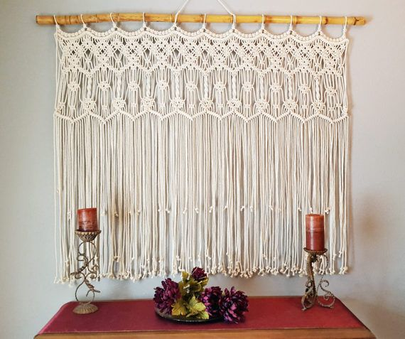 Extra Large Macrame Wall Hanging Wedding Backdrop Arch
