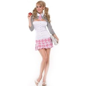 Sexy Pink School Girl Costume