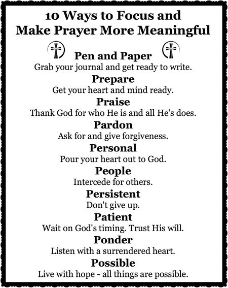 10 Ways to Focus and Make Prayer More Meaningful