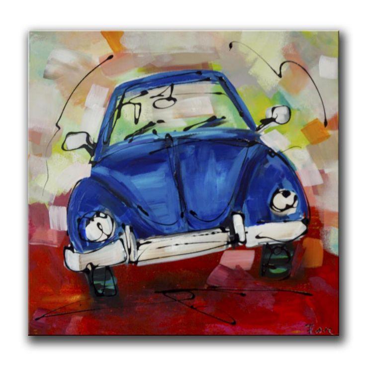 Blauwe kever schilderij