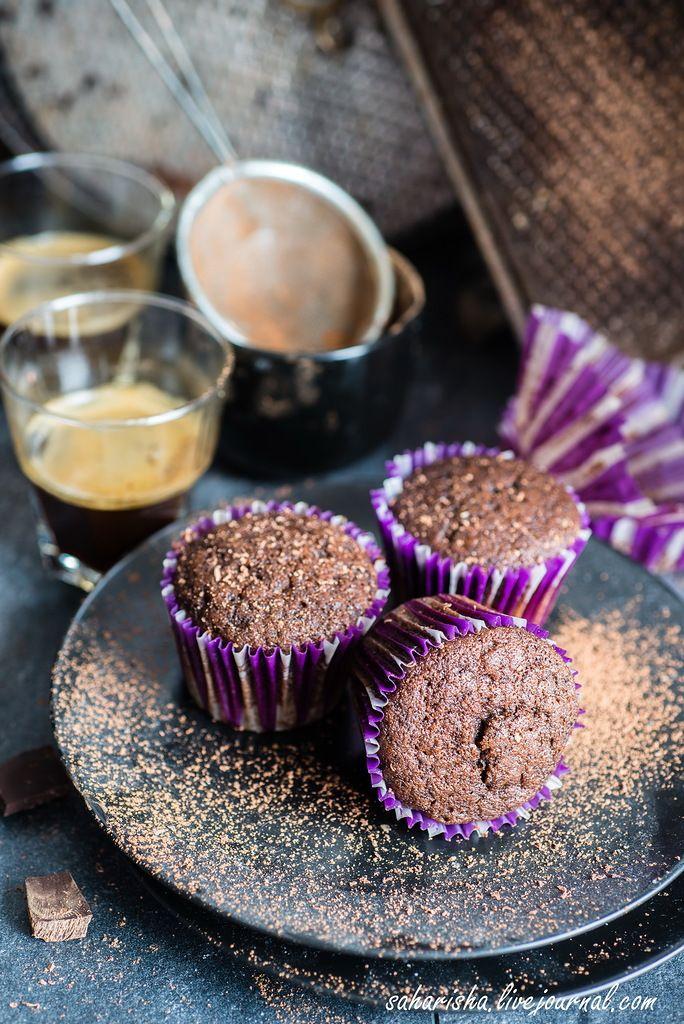 Быстрые постные шоколадные кексы - something sweet to a cup of coffee
