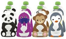 Aussie Bubs - Squooshi Reusable Food Pouches - Large 8 Pack  Pack - Ziplock (Online)