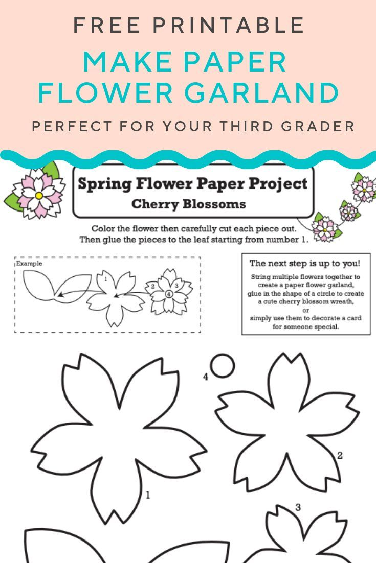 Get This Free Paper Flower Garland Printable Looking To Create A Paper Flower Craft This Printable Is A Paper Flower Garlands Paper Flowers Flower Garlands [ 1102 x 735 Pixel ]