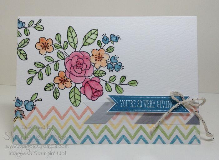 5 ideas for the Watercolour Wonder Designer Notecards  Envelopes www.magpiecreates.com Watercolour_Notecards_Giving_Magpiecreates