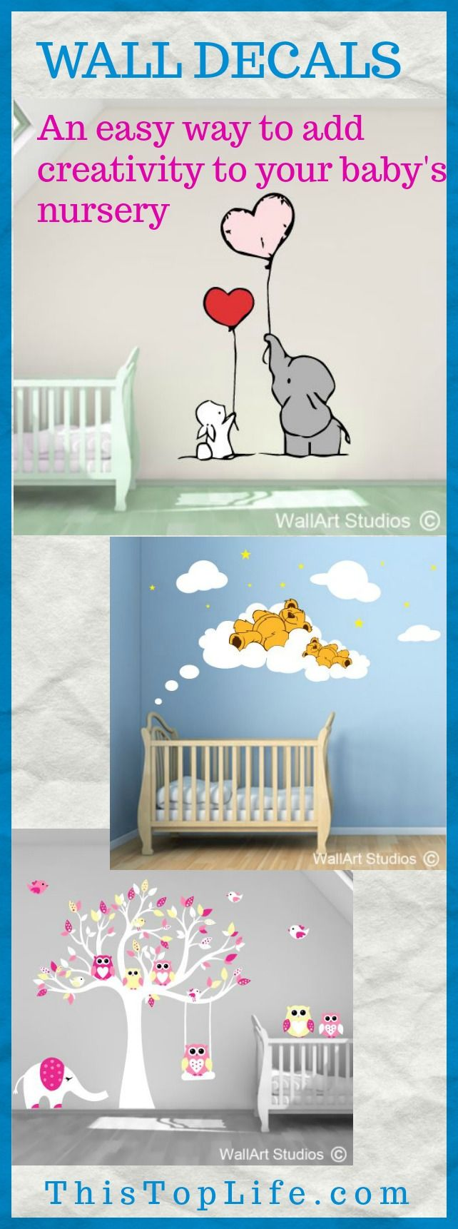 Wall decals are a fun way to add creativity to your baby's nursery!
