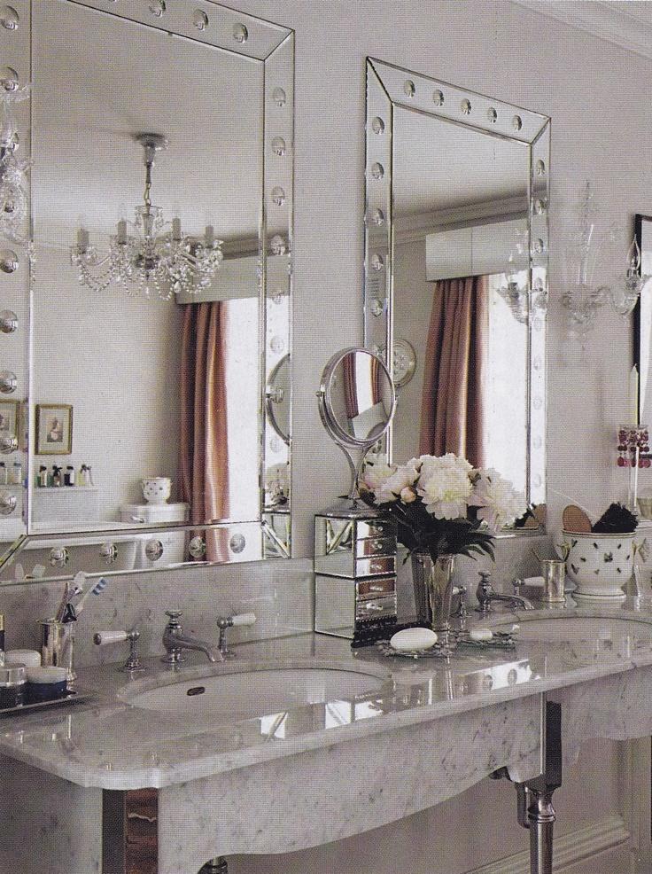 Old glam bathroom home inspiration bathrooms pinterest - Bathroom wall decorating ideas small bathrooms ...
