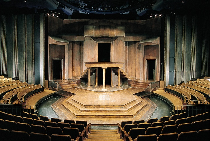 Thrust stage at the Shakespeare Festival Theatre, Stratford, Ontario