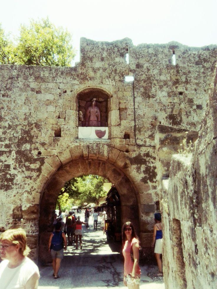 an entrance through the Bastions, Rhodes