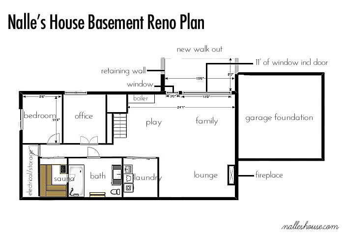 Ranch basement floor plan n a l l e 39 s h o u s e for Basement design layouts