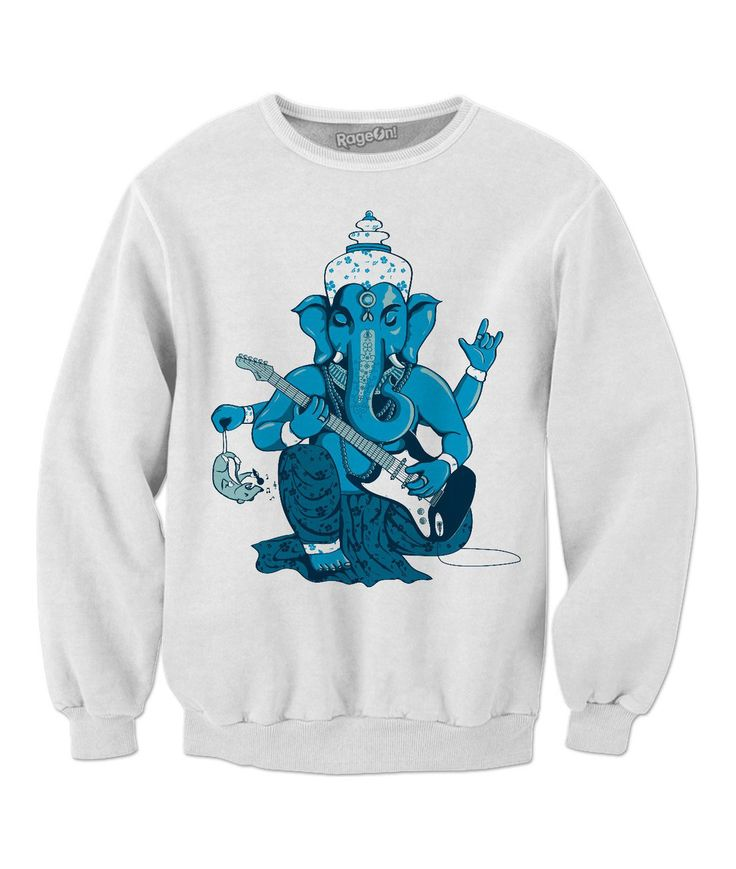 Ganesha rocks! Sweatshirt by @savousepate on RageOn!