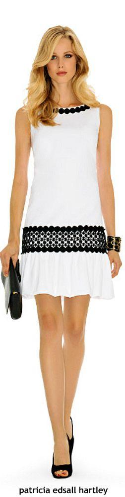 Luisa Spagnoli #vestido #linhaA #cintura baixa #faixa #preto&branco