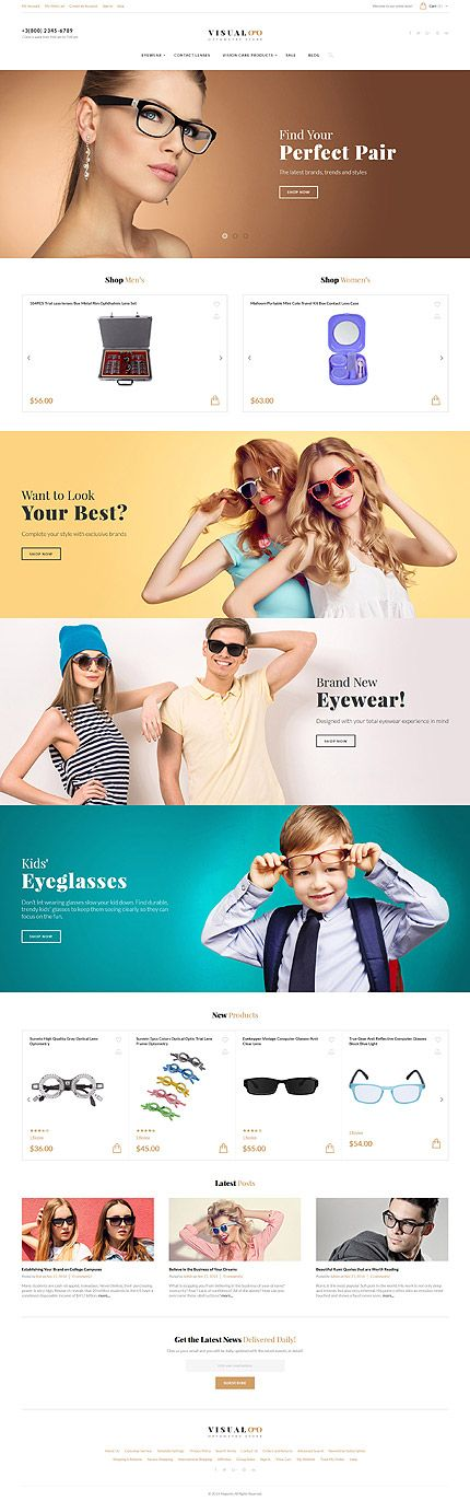 Optometry Online Store #Magento #template. #themes #business #responsive #webshop #Magentothemes