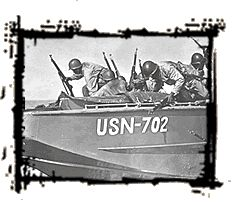Paola. Black soldiers on a boat during World War II.