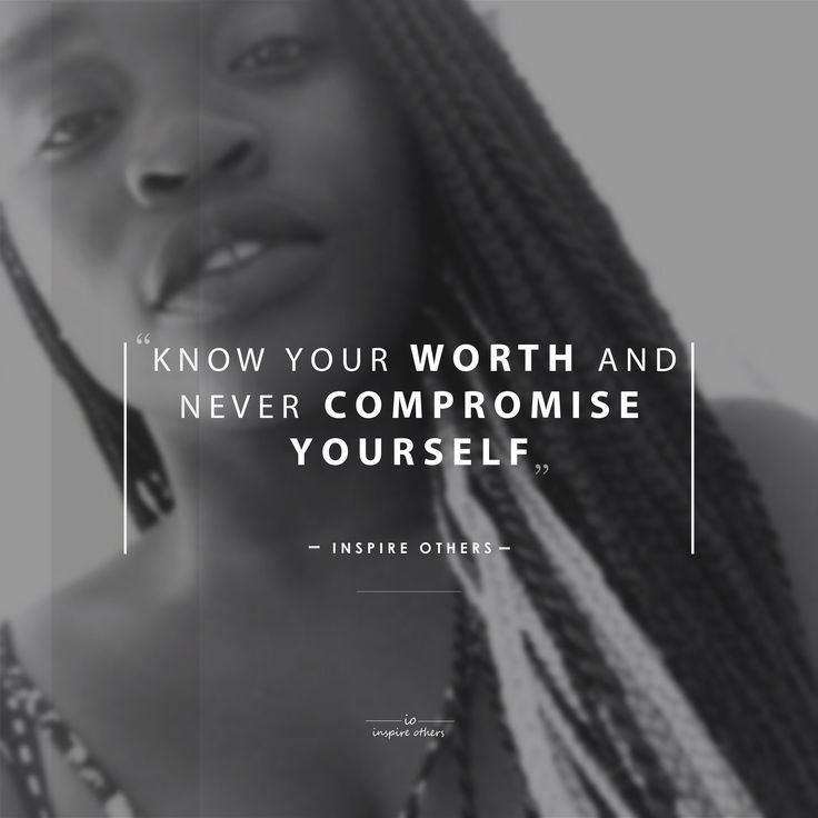 """""""Know your worth and never compromise yourself."""" - inspire others - #io #inspireothers #2016"""