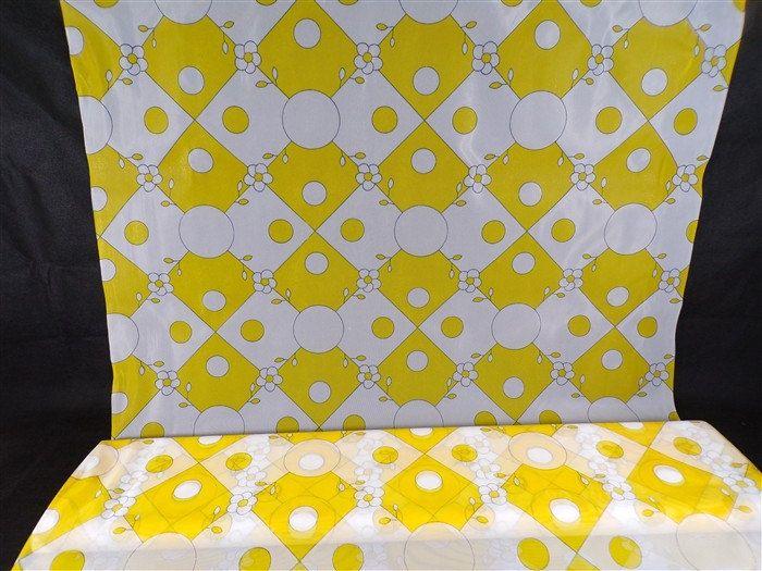 Tissu vintage voilage nylon polyester années 60, 70 jaune et banc vendu au mètre vintage france vintagefr déco vintage, diy, travaux manuels de la boutique decobrock sur Etsy