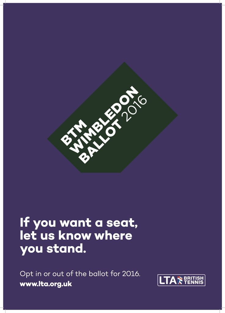 Opt-in to 2016 Wimbledon Ticket Ballot with Elthorne Tennis and Lampton Park Tennis