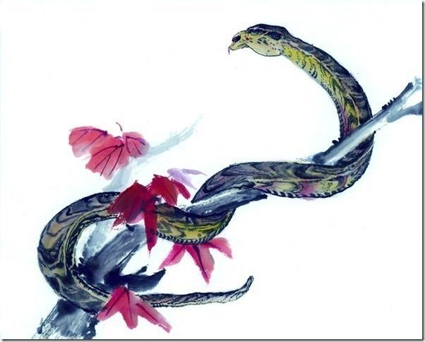 chinese art snake - photo #37