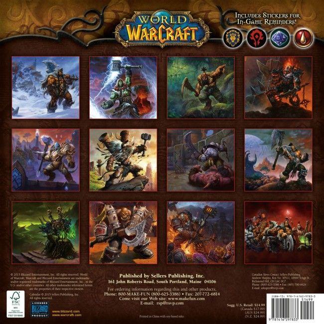 $14.99 World of Warcraft 2016 Wall Calendar