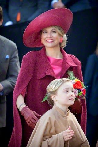 Queen Maxima and her youngest daughter Princess Ariane attend the Kingsday (Koningsdag) celebration in Dordrecht, The Netherlands, 27 April 2015.