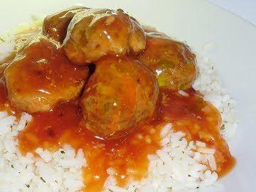 Les délices de Maya: Boulettes de porc, sauce aigre-douce