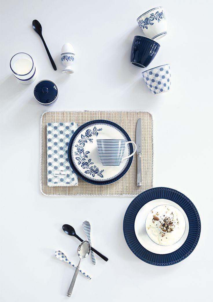 Greengate, porcelán, kerámia, Alice, Fleur blue