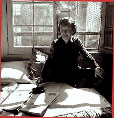 Marguerite Duras, 1955 • Robert Doisneau