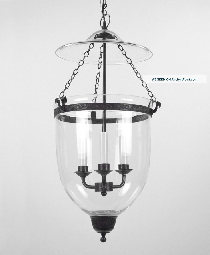 Large Bell Jar Light Chandelier Pendant Lantern Glass