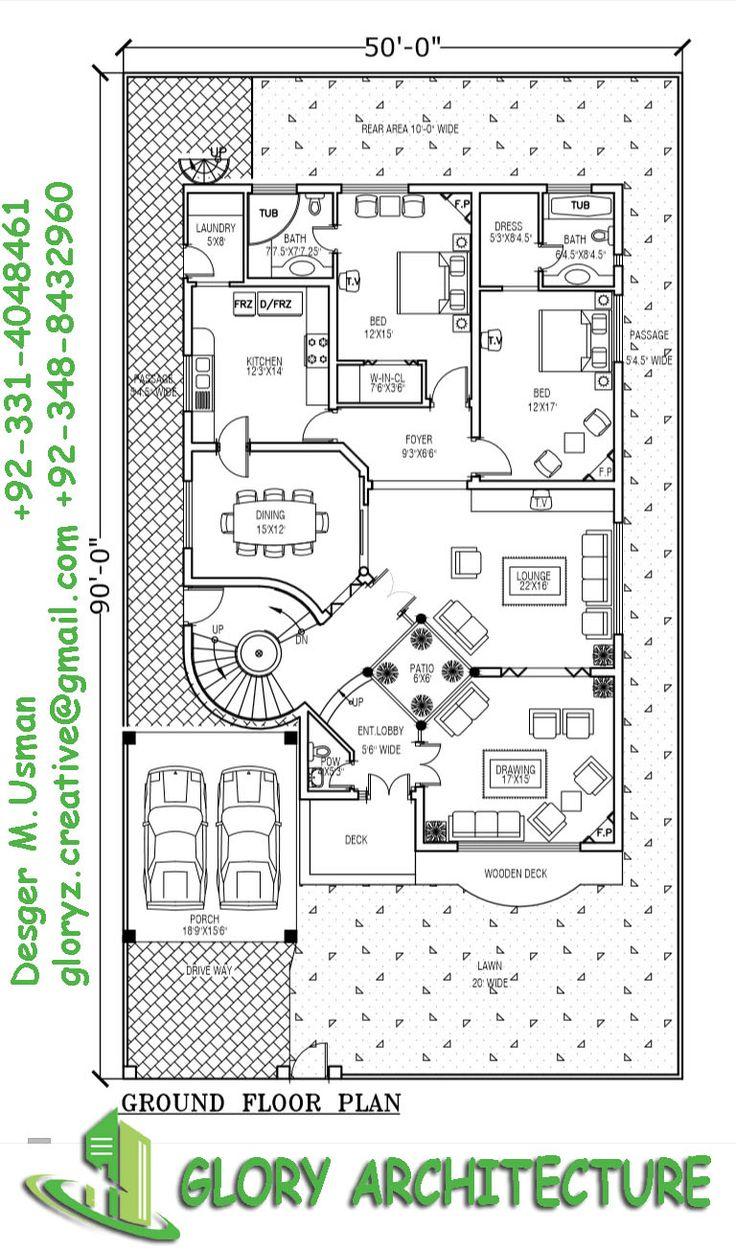 10 best 1 kanal modern house plan images on pinterest 3d for 2 kanal house floor plans