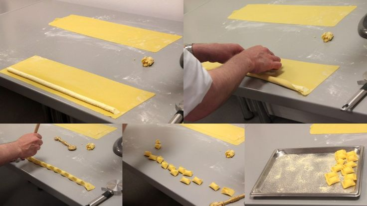 How to make agnolotti stuffed with ricotta cheese filling