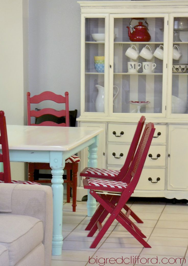 Big red clifford  retro kitchen reveal    how chalk paint saved me 9 best Kitchen Table images on Pinterest   Furniture refinishing  . Teal Painted Kitchen Table. Home Design Ideas