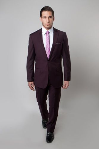 Men's Solid One Button Skinny Slim Fit Suit by Apparel99 #Apparel99 #TwoButton