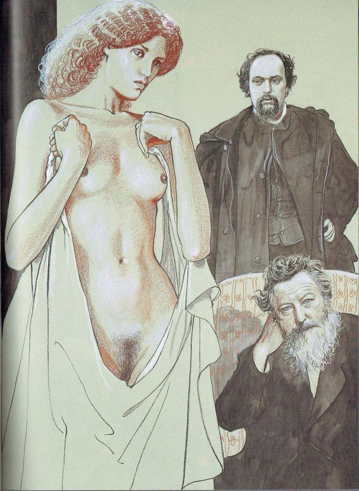 Milo Manara - Vol. 20, Il Pittore e la Modella-71 (Dante Gabriel Rossetti, Jane Morris)