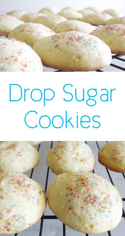 I'm sharing my family recipe for Drop Sugar Cookies. They're so soft and moist and it's hard to eat just one.