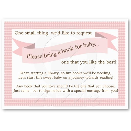 card insert request book insert baby shower books baby shower
