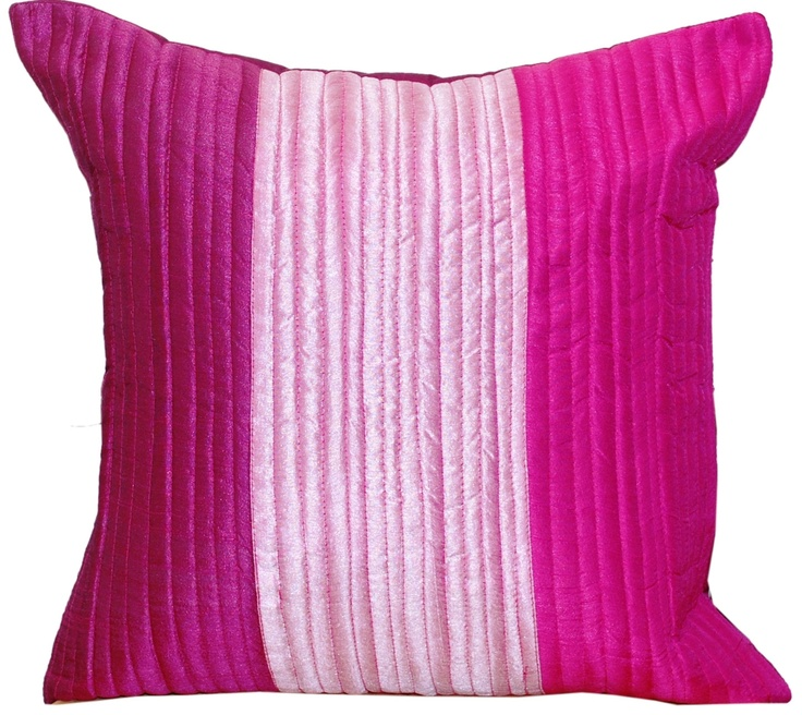 Throw Pillow Cover, Pink Throw Pillow, Decorative, Quilted, Throw Pillow,  Bright, Fuchsia, Magenta, Hot Pink, Cushion Cover  U0027Pink Bouquetu0027