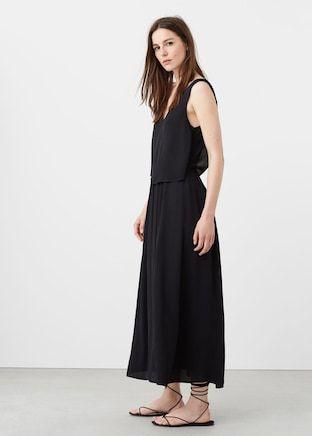 Vestido largo doble capa