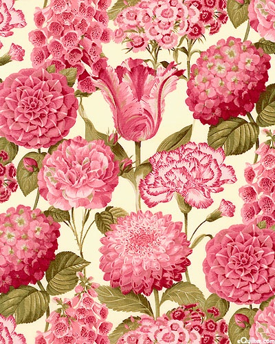 Teatime floral two Jolie Jardin - antique rose/eggshell This is so beautiful I LOVE IT