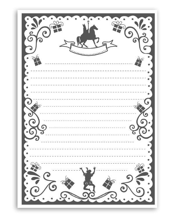 Gratis sinterklaas printables!Voor de brief aan Sint en Piet of voor het sinterklaas gedicht. Briefpapier voor5 december. Gratis te downloaden. Want…je krijgt de sinterklaas printables cadeau van Printcandy. Veel plezier ermee!