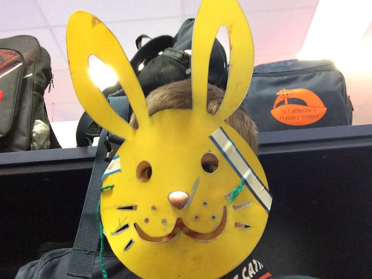 Creepy bunny found taking selfies on 10 year old Cameron school boys iPad police came straight after this selfie the crime of the selfies was taken with suspicious police are still investigating at the after school care do not approach this bunny he may be armed Reward $5000