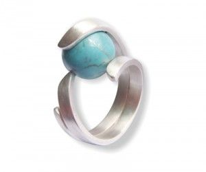 Sterling Silver Ring With a Turquoise