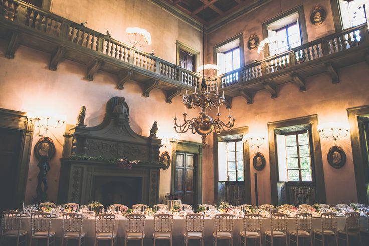 Long table for the wedding dinner