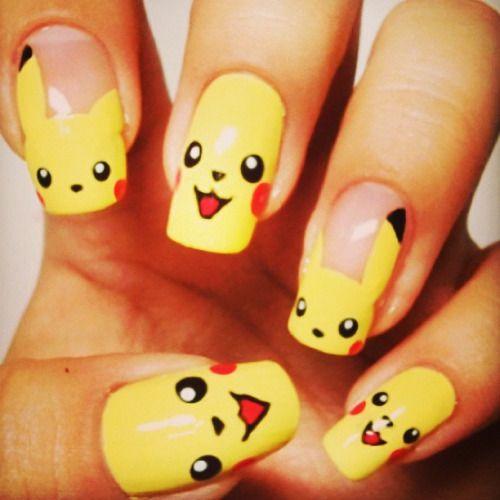Best 25 Cartoon Nail Designs Ideas On Pinterest: Best 25+ Pikachu Nails Ideas On Pinterest