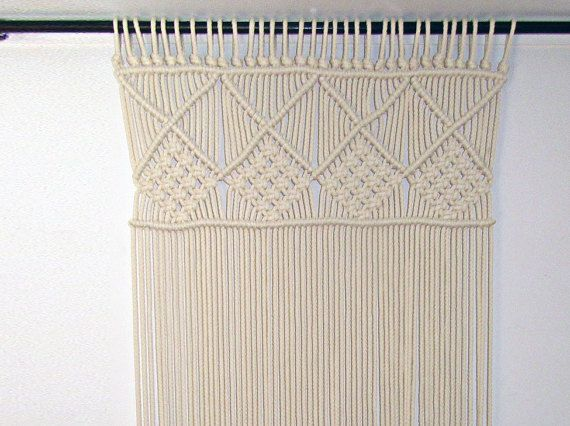 Macrame thick cotton cord curtain or wall decor