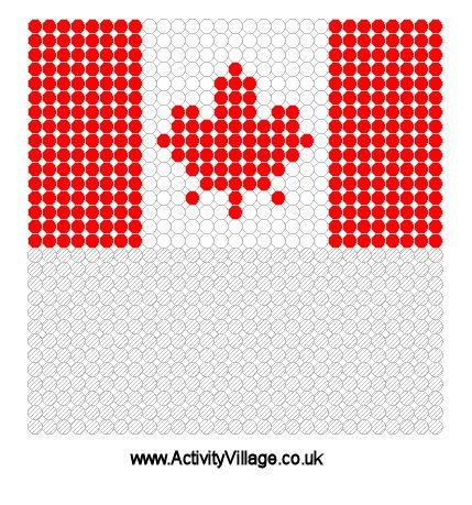 Canada Flag Fuse Bead Pattern